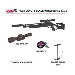Pack Gamo PCP Coyote Black Whisper + Visor 3-9x40 WR + Bomba + Balínes PCP